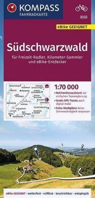 KOMPASS Fahrradkarte Südschwarzwald 1:70.000