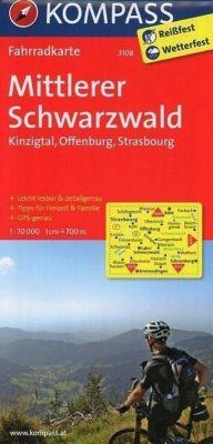 Kompass Fahrradkarten: Kompass Fahrradkarte Mittlerer Schwarzwald, Kinzigtal, Offenburg, Strasbourg -  pdf epub