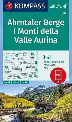 Kompass Karte Ahrntaler Berge, I Monti della Valle Aurina