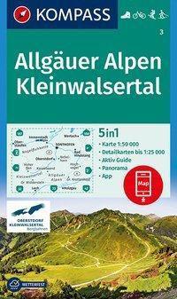 Kompass Karte Allgäuer Alpen, Kleinwalsertal