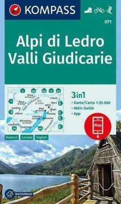 Kompass Karte Alpi di Ledro - Valli Giudicarie
