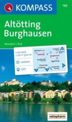 Kompass Karte Altötting, Burghausen