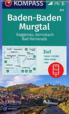 Kompass Karte Baden-Baden, Murgtal, Gaggenau, Gernsbach, Bad Herrenalb