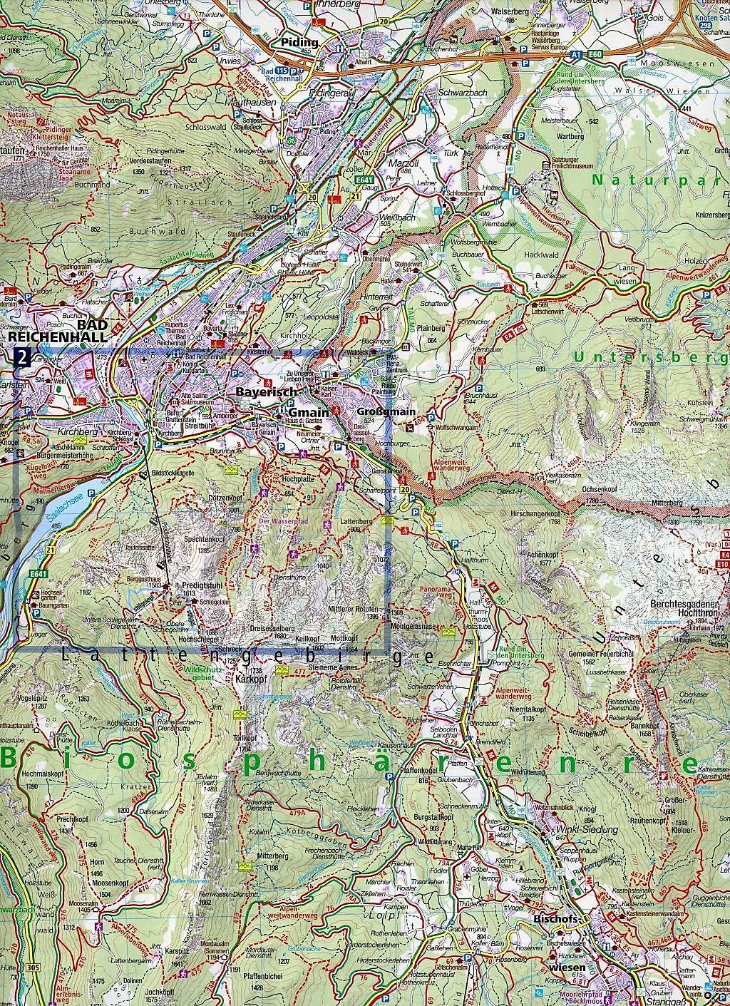 Berchtesgadener Land Karte.Kompass Karte Berchtesgadener Land Chiemgauer Alpen Buch
