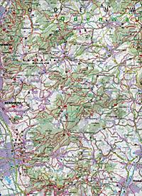 Kompass Karte Bergstraße-Odenwald, Neckartal, Geo-Naturpark Bergstraße-Odenwald, 2 Bl. - Produktdetailbild 1