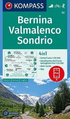 Kompass Karte Bernina, Valmalenco, Sondrio