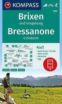 Kompass Karte Brixen und Umgebung, Bressanone e dintorni