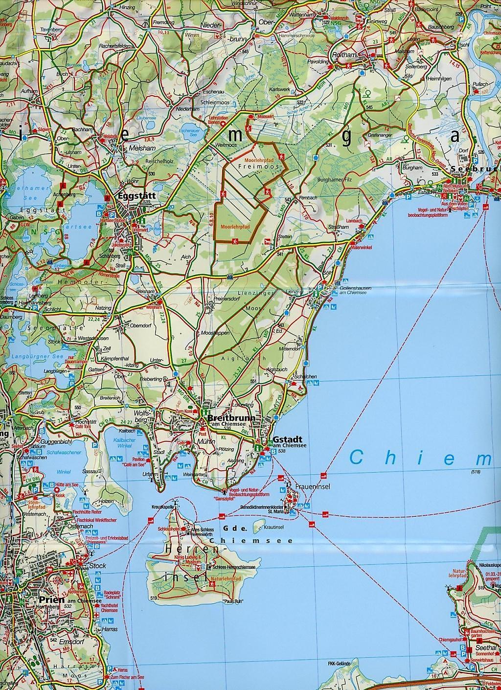 Chiemsee Karte.Kompass Karte Chiemsee Chiemgauer Alpen Buch Weltbild De