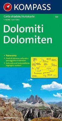 Kompass Karte Dolomiten; Dolomiti; Dolomites