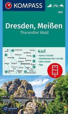 Kompass Karte Dresden, Meißen, Tharandter Wald