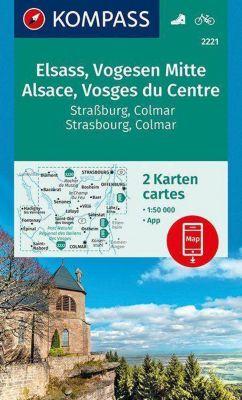 Kompass Karte Elsass, Vogesen Mitte, Alsace, Vosges du Centre