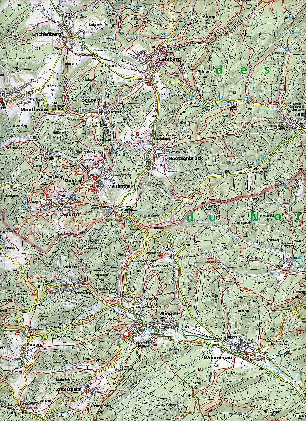 Elsass Auf Karte.Kompass Karte Elsass Vogesen Nord 2 Bl Alsace Vosges Du Nord