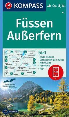 Kompass Karte Füssen, Außerfern