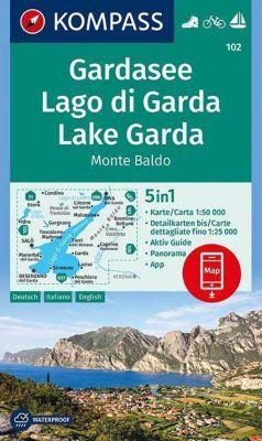 Kompass Karte Gardasee, Lago di Garda, Lake Garda, Monte Baldo