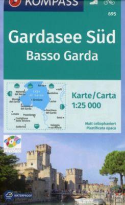 Kompass Karte Gardasee Süd / Basso Garda