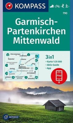 Kompass Karte Garmisch-Partenkirchen, Mittenwald