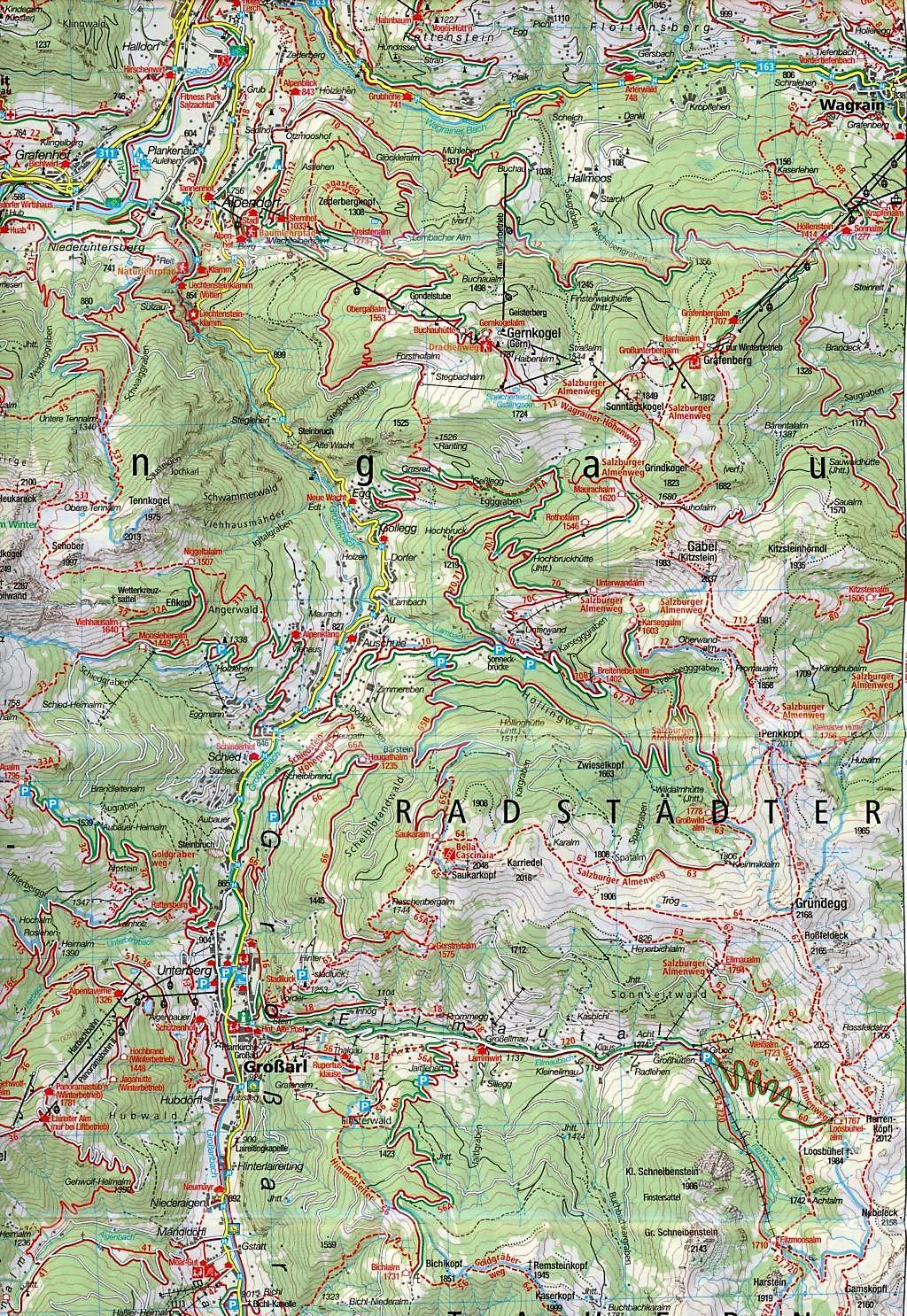 Hohe Tauern Karte.Kompass Karte Gasteinertal Goldberggruppe Nationalpark Hohe Tauern