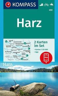 Kompass Karte Harz, 2 Bl.