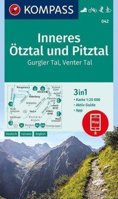 Kompass Karte Inneres Ötztal und Pitztal, Gurgler Tal, Venter Tal
