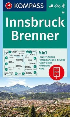Kompass Karte Innsbruck, Brenner