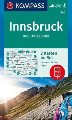 Kompass Karte Innsbruck und Umgebung, 2 Bl.