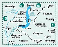 Kompass Karte Lago d'Iseo, Valle Trompia, Franciacorta - Produktdetailbild 2