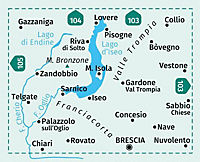 Kompass Karte Lago d'Iseo, Valle Trompia, Franciacorta - Produktdetailbild 1