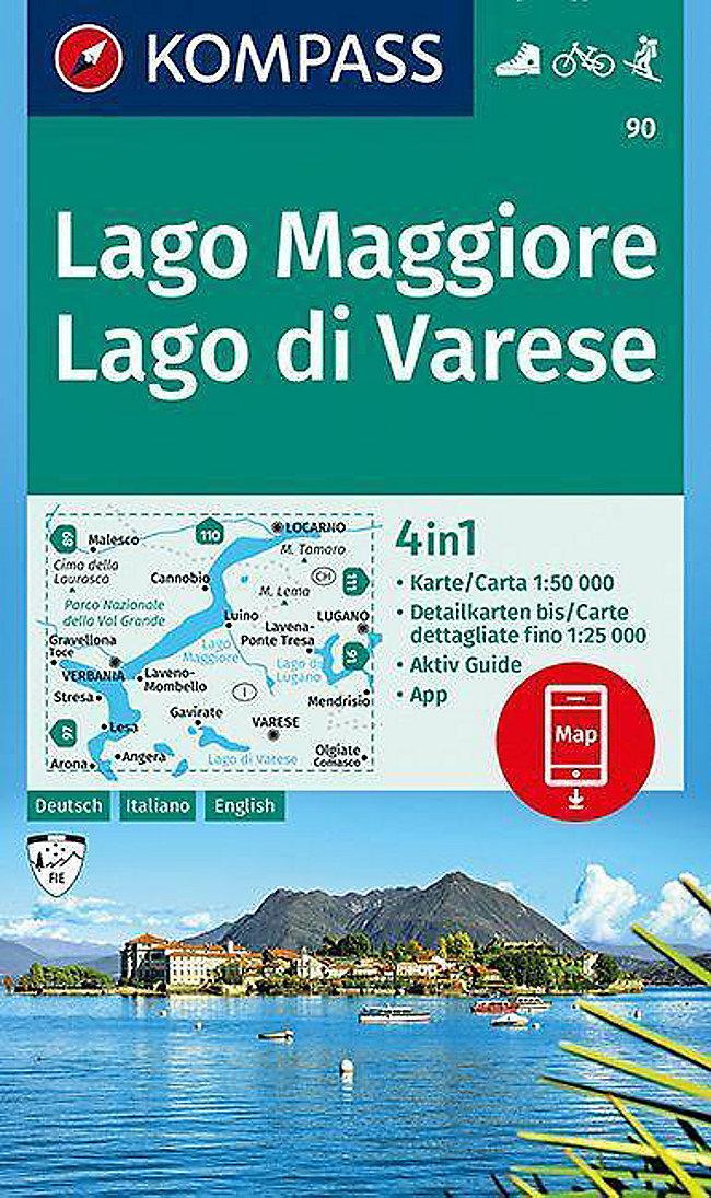 Karte Lago Maggiore Und Umgebung.Kompass Karte Lago Maggiore Lago Di Varese Buch Portofrei