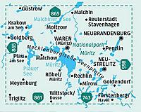Kompass Karte Müritz und Umgebung, 2 Bl. - Produktdetailbild 1