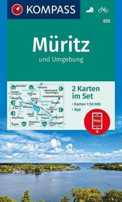 Kompass Karte Müritz und Umgebung, 2 Bl.
