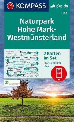Kompass Karte Naturpark Hohe Mark, Westmünsterland