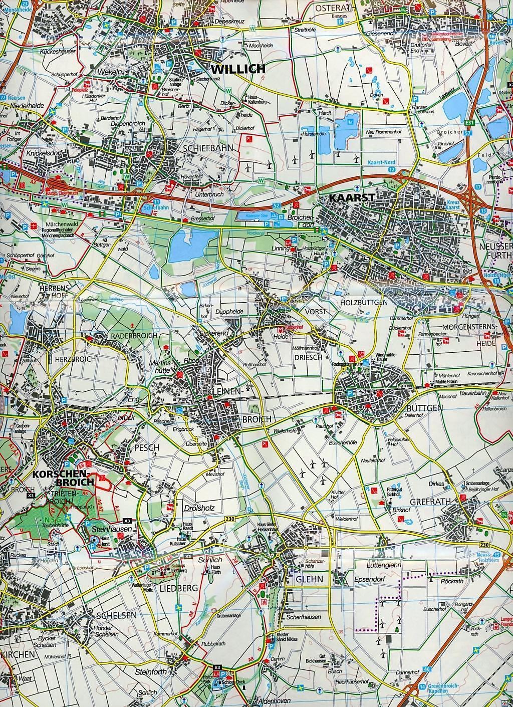 Karte Niederrhein.Kompass Karte Niederrhein Süd Naturpark Maas Schwalm Nette Buch
