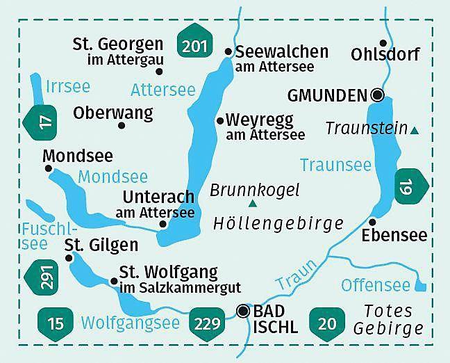 Salzkammergut Karte.Kompass Karte Nordliches Salzkammergut Wolfgangsee