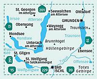 Kompass Karte Nördliches Salzkammergut, Wolfgangsee, Attersee, Traunsee - Produktdetailbild 2