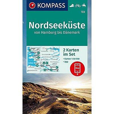 Dänemark Nordseeküste Karte.Kompass Karte Nordseeküste Von Hamburg Bis Dänemark Buch