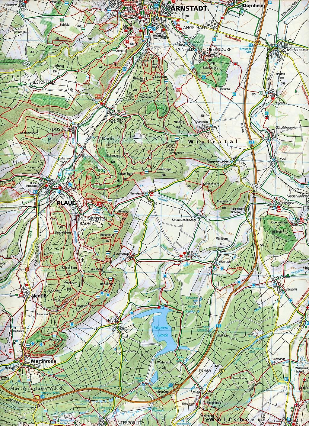 Thüringer Wald Karte.Kompass Karte östlicher Thüringer Wald Buch Portofrei Weltbild De