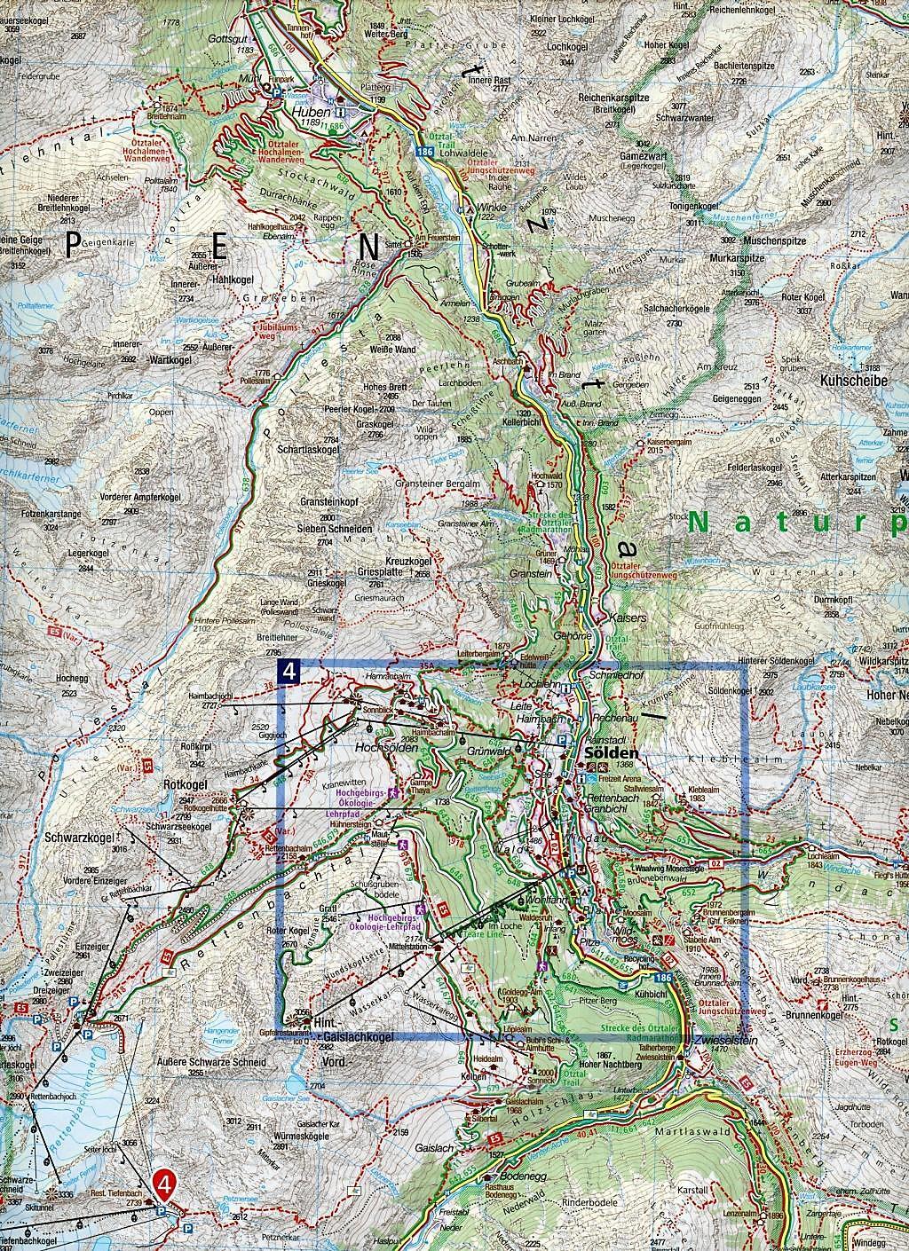 Pitztal Karte.Kompass Karte ötztaler Alpen ötztal Pitztal Buch Portofrei