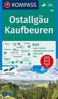 Kompass Karte Ostallgäu, Kaufbeuren