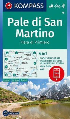 Kompass Karte Pale di San Martino