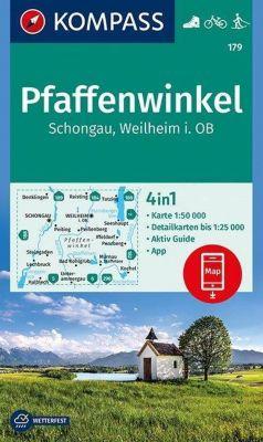 Kompass Karte Pfaffenwinkel, Schongau, Weilheim i. OB