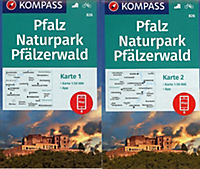 Kompass Karte Pfalz, Naturpark Pfälzerwald, 2 Bl. - Produktdetailbild 1