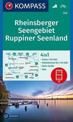 Kompass Karte Rheinsberger Seengebiet, Ruppiner Seenland