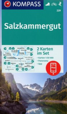 Kompass Karte Salzkammergut, 2 Bl.