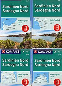 Kompass Karte Sardinien Nord, Sardegna Nord - Produktdetailbild 1