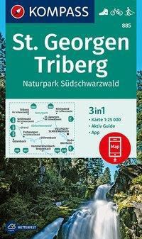 Kompass Karte St. Georgen, Triberg, Naturpark Südschwarzwald