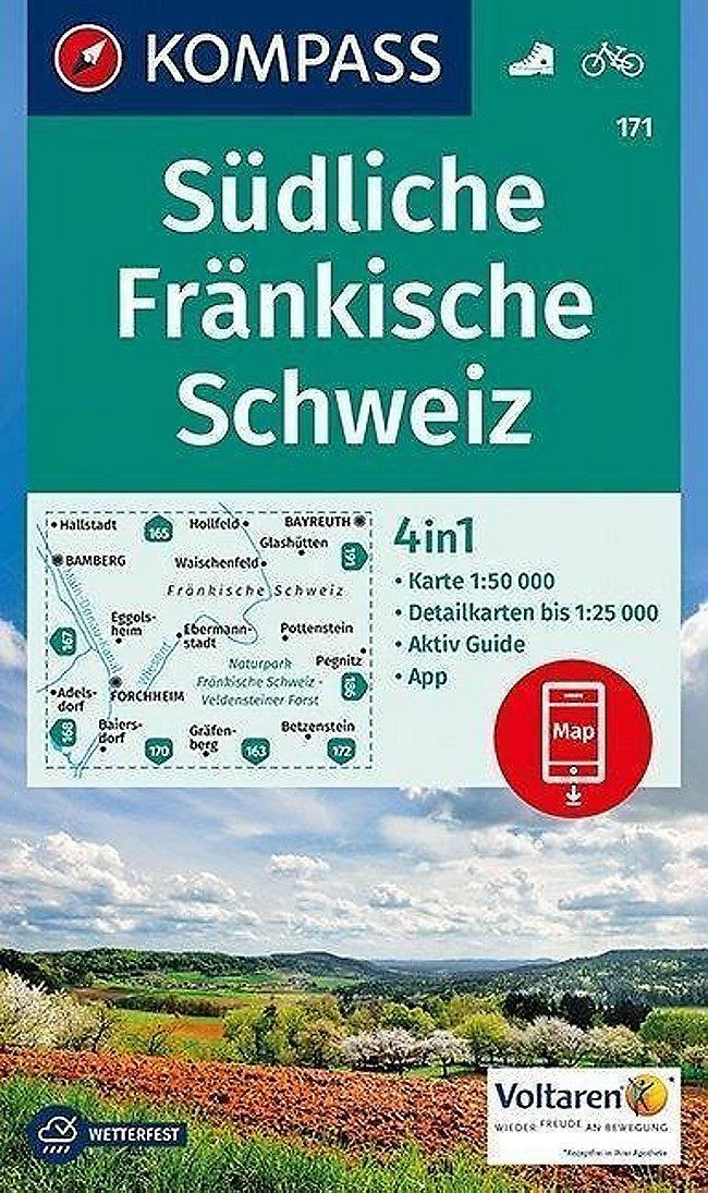 Fränkische Schweiz Karte.Kompass Karte Südliche Fränkische Schweiz Buch Weltbild Ch