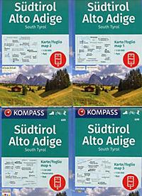 Kompass Karte Südtirol, Alto Adige, South Tyrol, 3 Bl. - Produktdetailbild 1