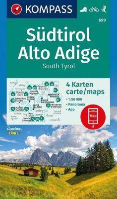 Kompass Karte Südtirol, Alto Adige, South Tyrol, 3 Bl.