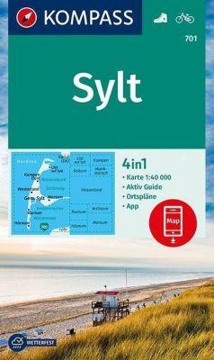 Kompass Karte Sylt