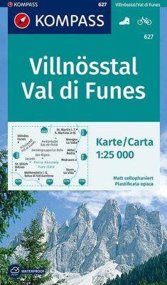 Kompass Karte Villnösstal, Val di Funes